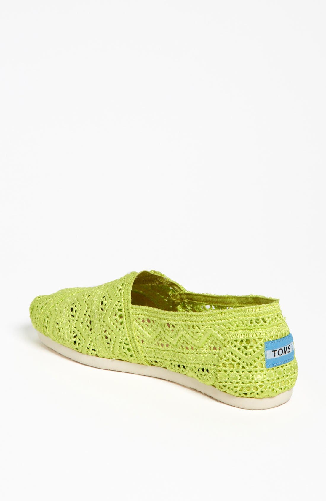 Alternate Image 2  - TOMS 'Classic - Neon' Crochet Slip-On (Women)