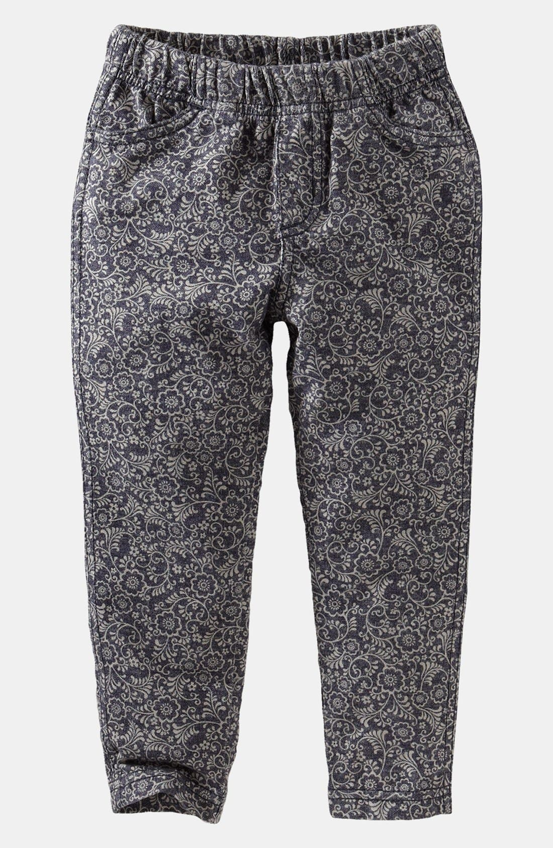 Alternate Image 1 Selected - Tea Collection Print Skinny Pants (Little Girls & Big Girls)