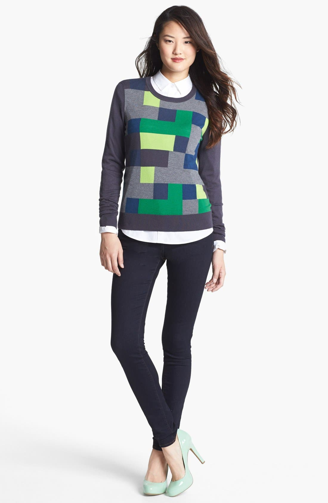 Alternate Image 1 Selected - Halogen® 'Ava' Intarsia Sweater
