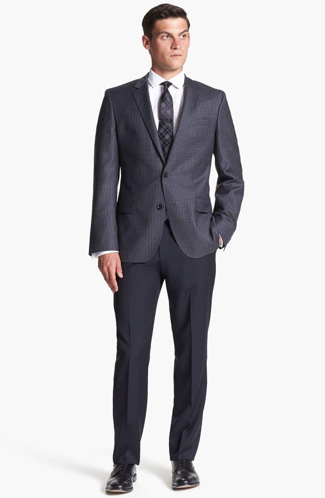 Alternate Image 6  - BOSS HUGO BOSS 'Hutch' Trim Fit Check Sportcoat