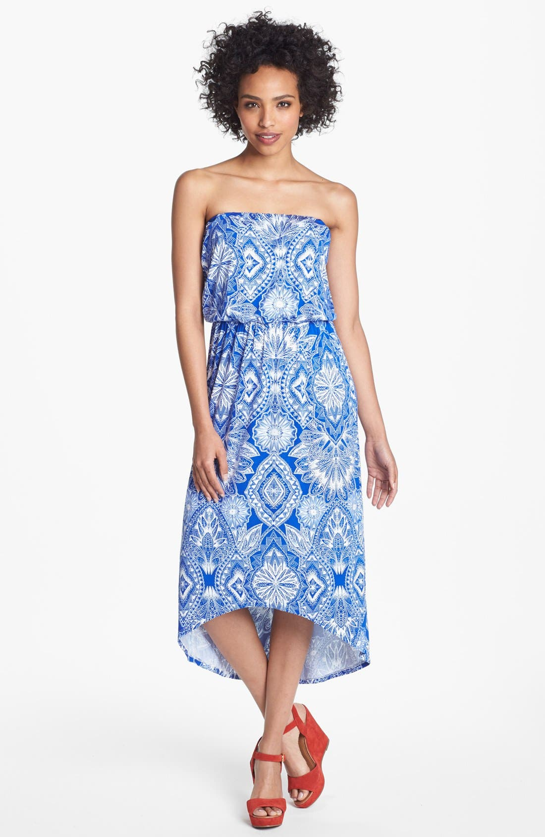 Alternate Image 1 Selected - Felicity & Coco 'Delanie' High/Low Blouson Dress (Nordstrom Exclusive)