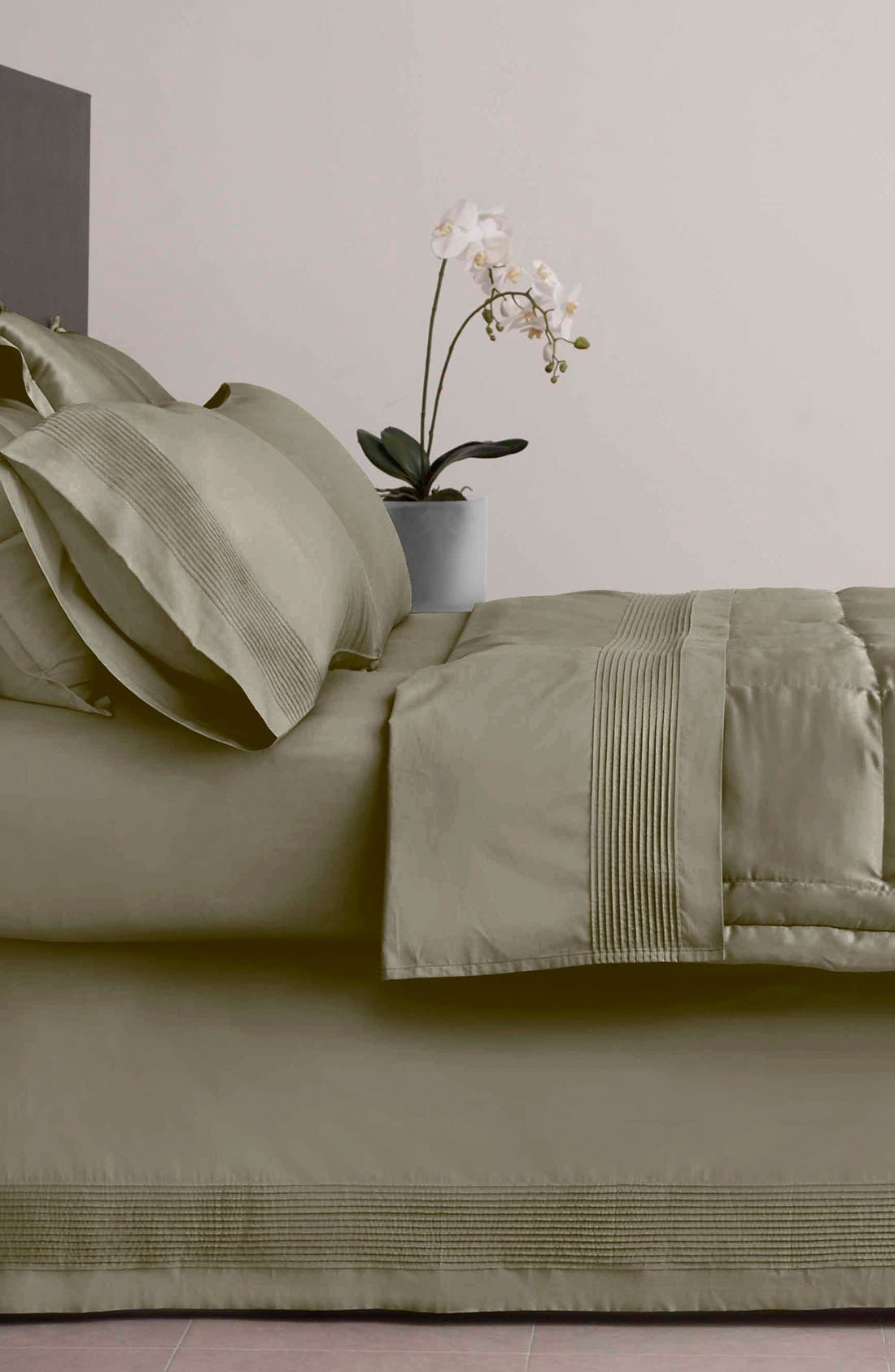 Alternate Image 1 Selected - Donna Karan 'Modern Classics - The Tailored Pleat' 400 Thread Count Bed Skirt (Online Only)