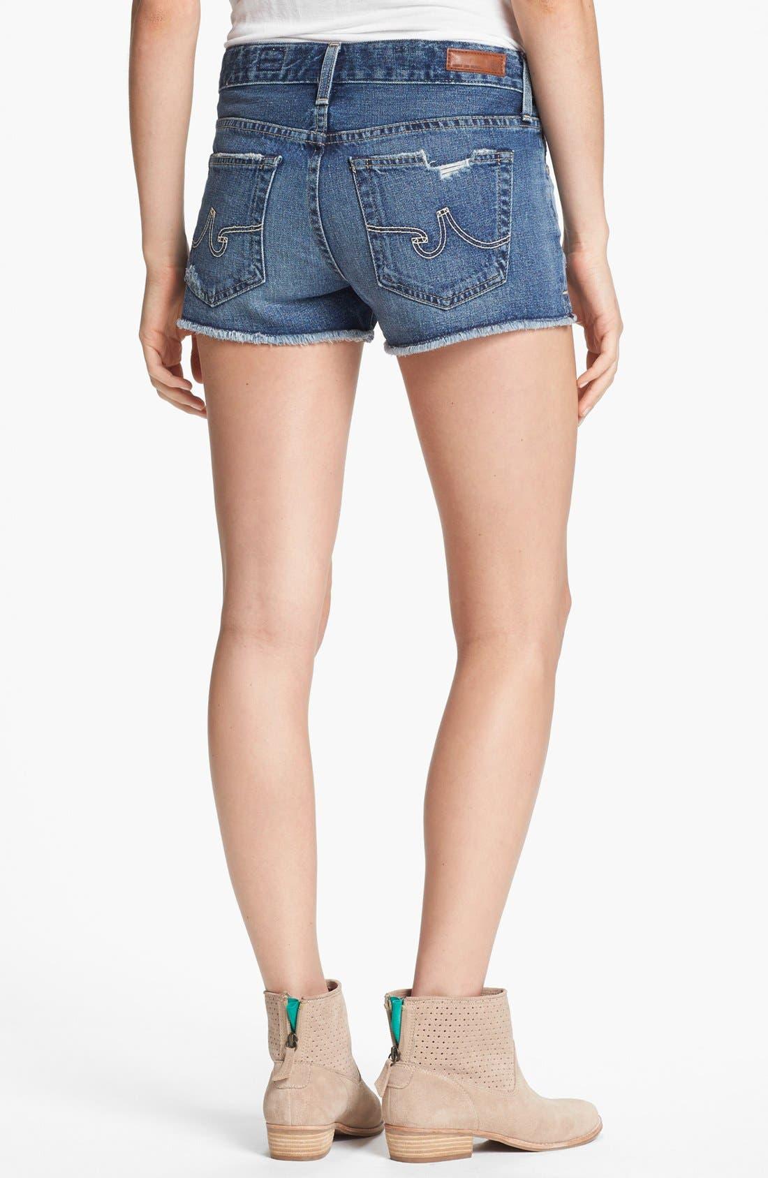 Alternate Image 2  - AG Jeans Cutoff Distressed Denim Shorts (14-Year Shred)
