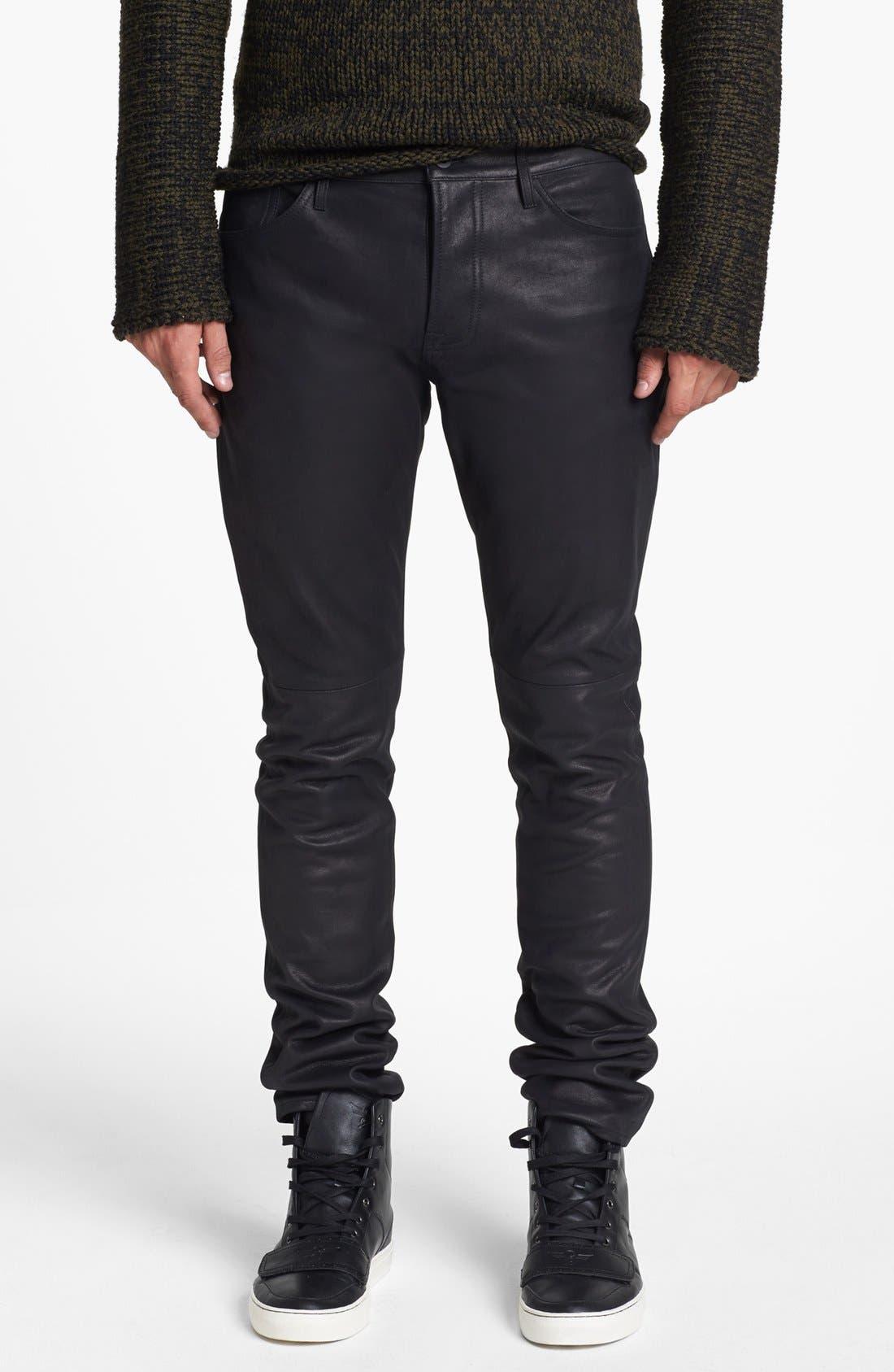 Alternate Image 1 Selected - Vince Five Pocket Leather Pants