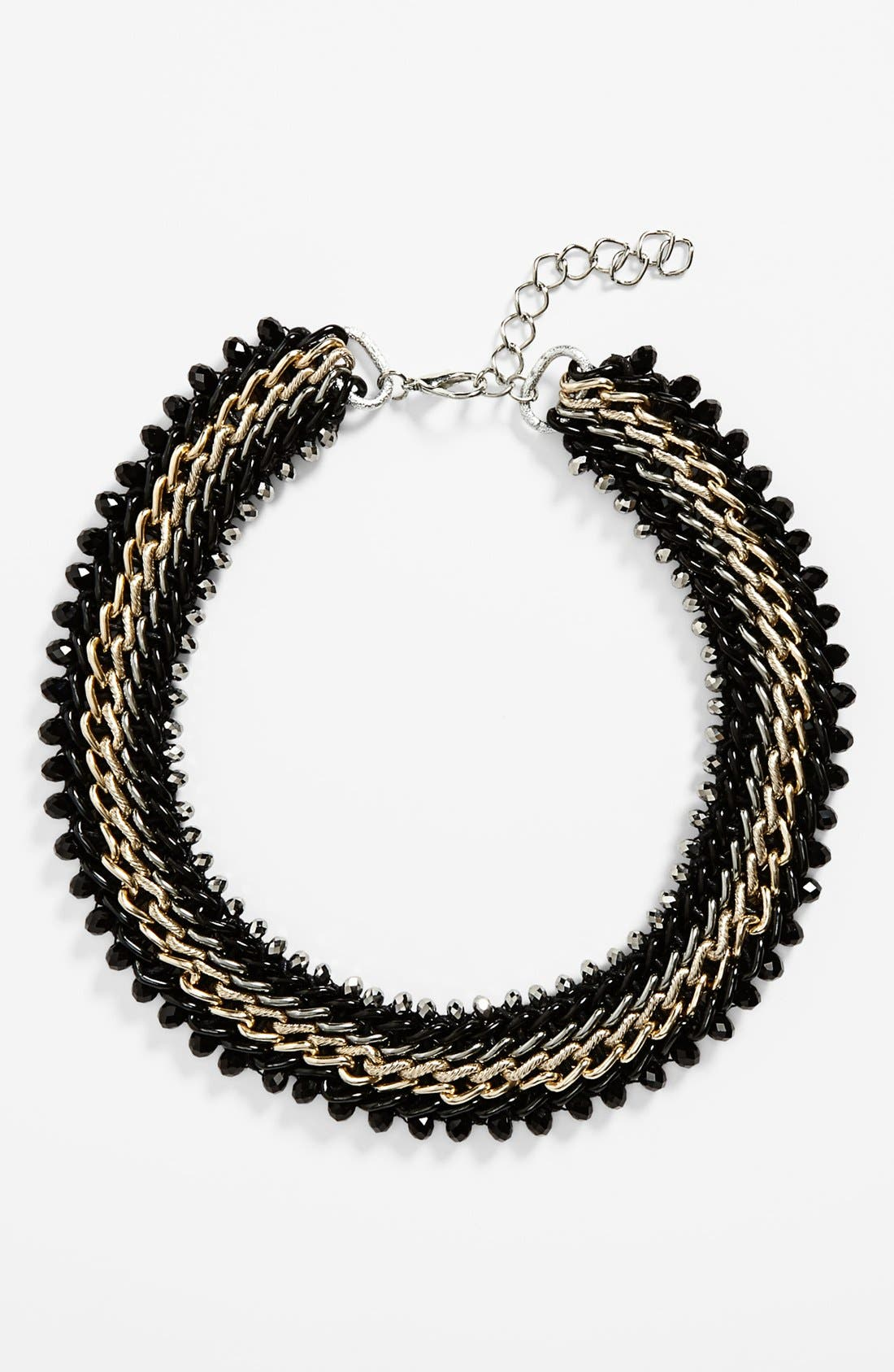 Main Image - Topshop Cone & Chain Collar Necklace