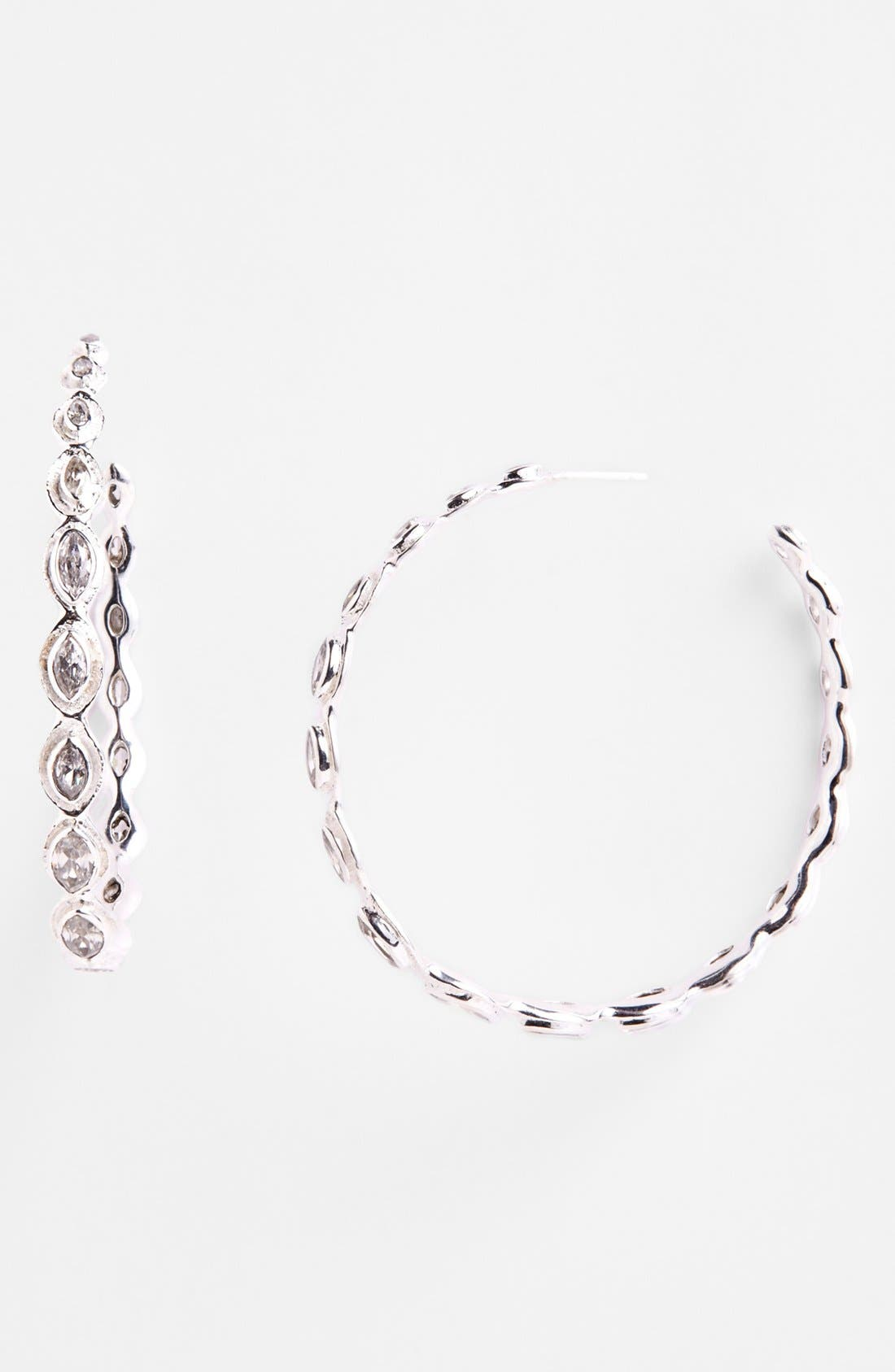 Alternate Image 1 Selected - Melinda Maria 'Gwyneth' Large Hoop Earrings (Online Only)
