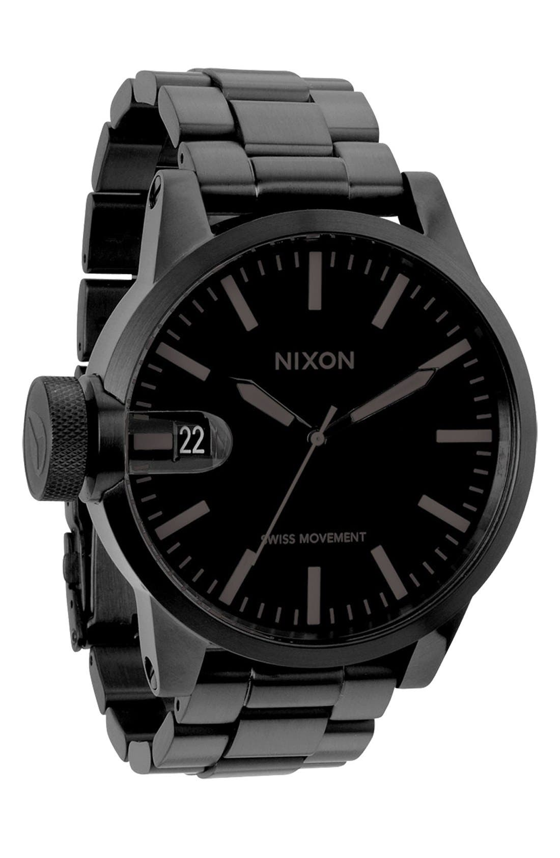 Alternate Image 1 Selected - Nixon 'The Chronicle' Stainless Steel Watch, 48mm