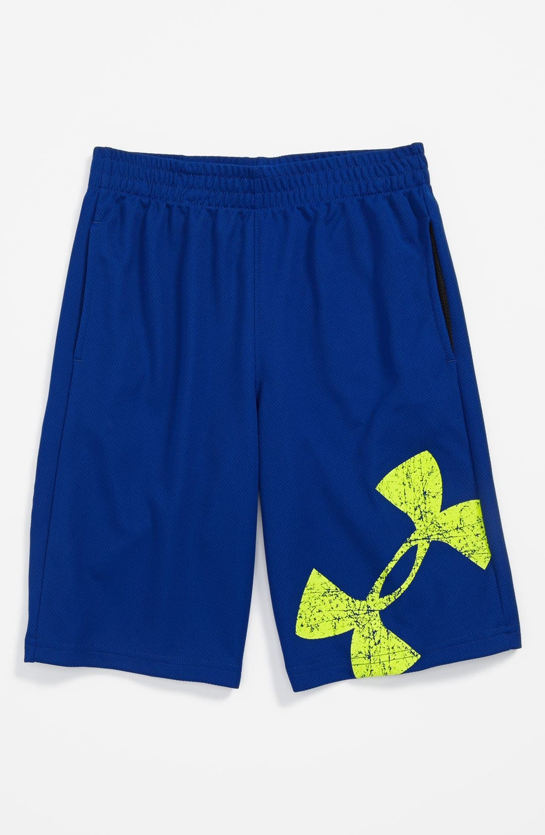 Main Image - Under Armour 'Power Up' HeatGear® Shorts (Little Boys)