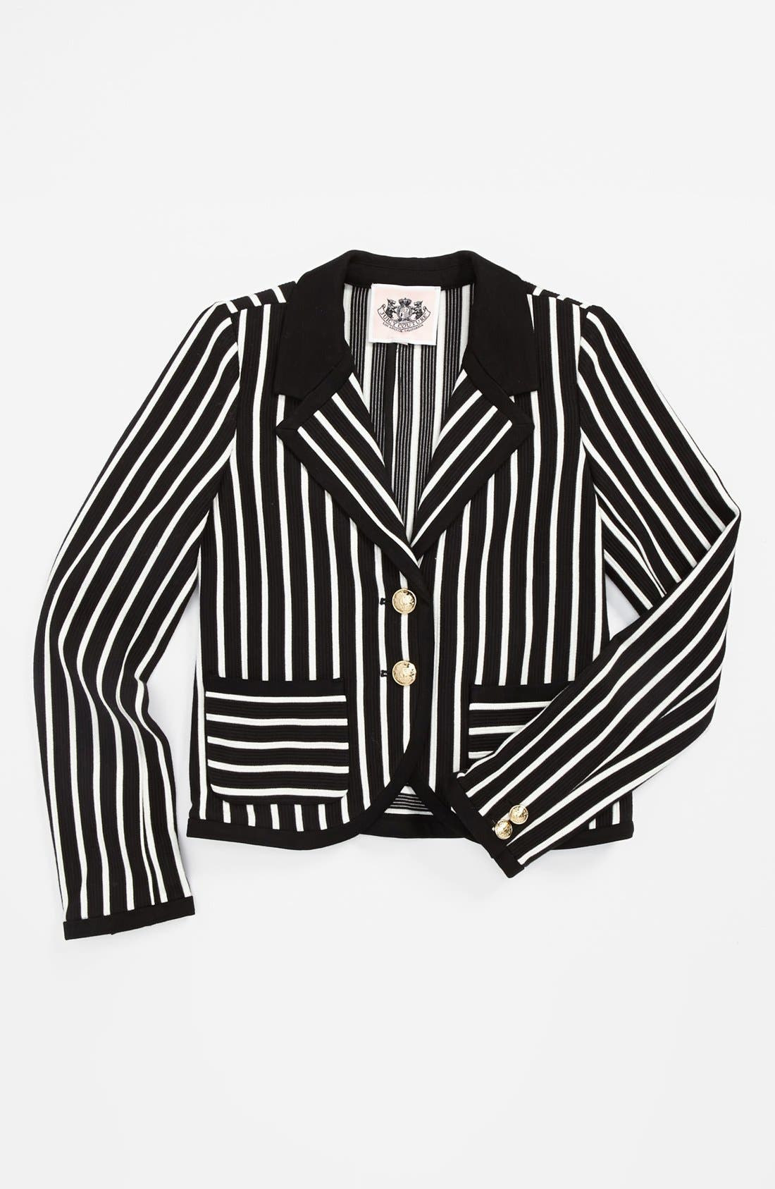 Main Image - Juicy Couture 'Ottoman' Stripe Blazer (Toddler Girls, Little Girls & Big Girls)