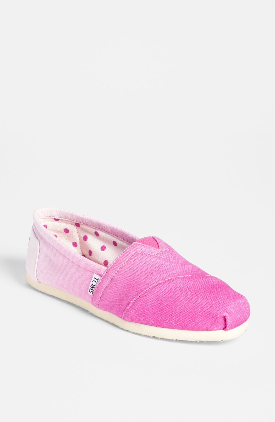 Main Image - TOMS 'Classic - Pink Ombré' Slip-On (Women) (Exclusive Color)