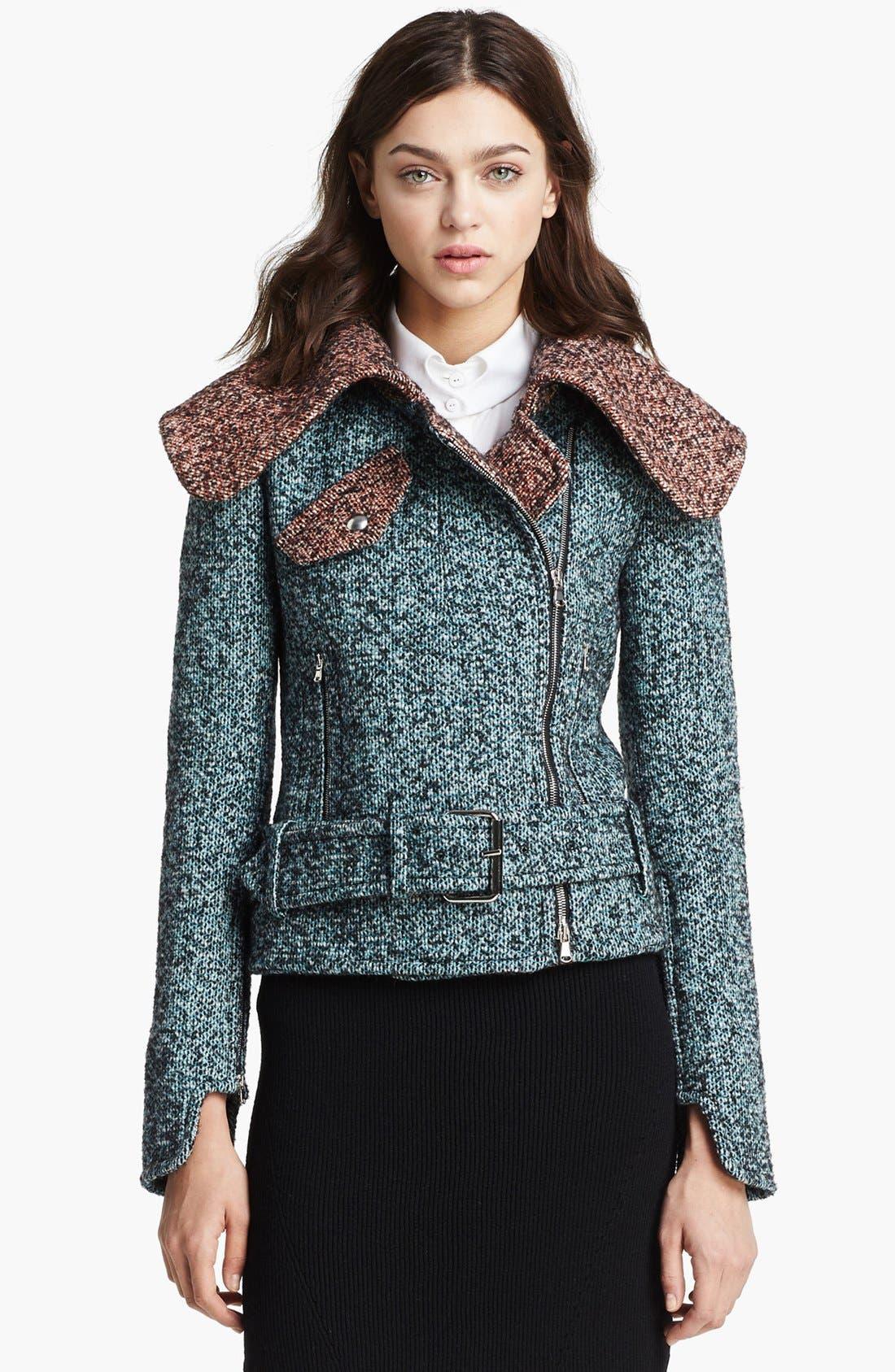Main Image - Carven Asymmetrical Zip Tweed Jacket