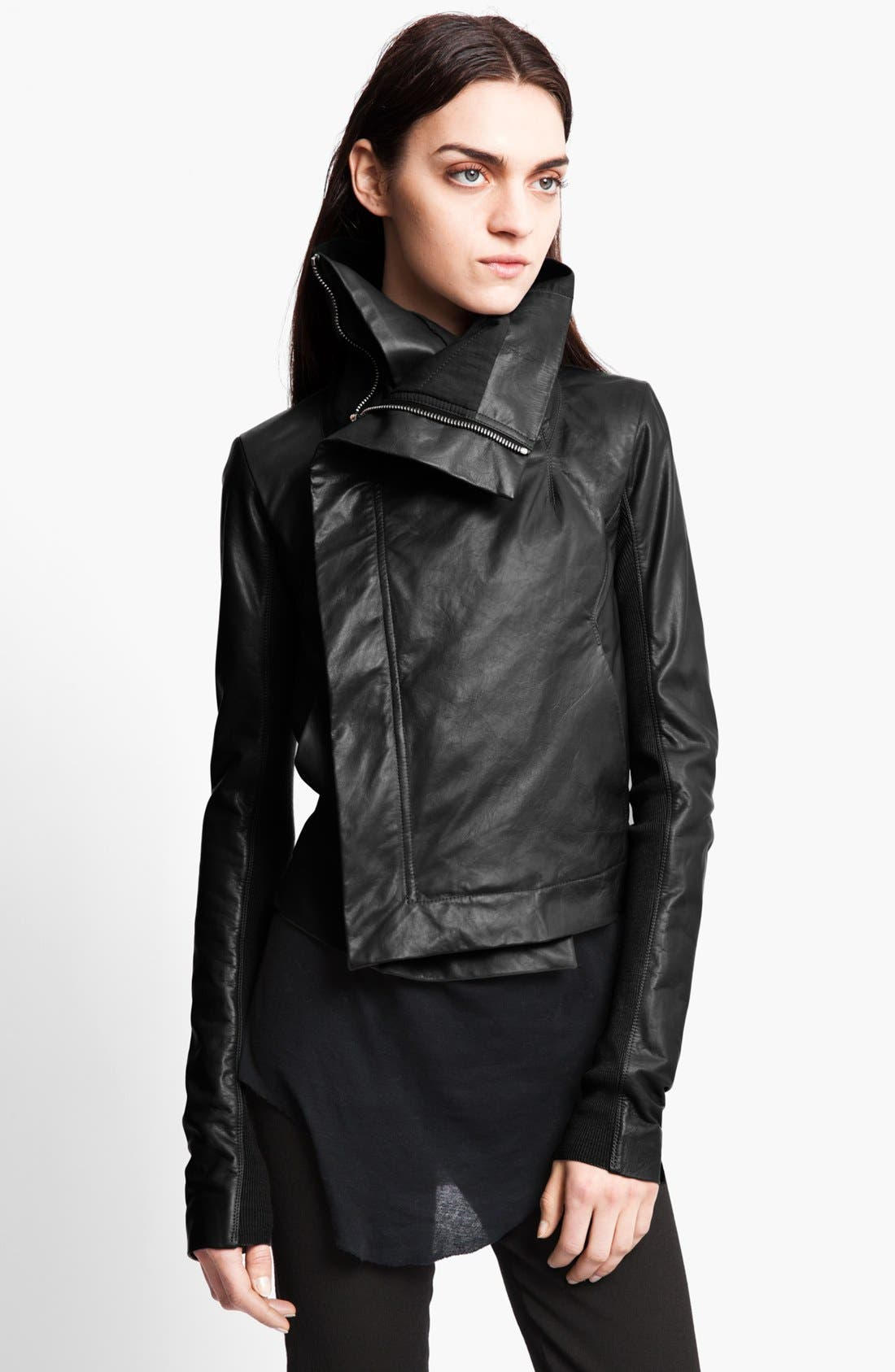 Main Image - Rick Owens Leather Biker Jacket