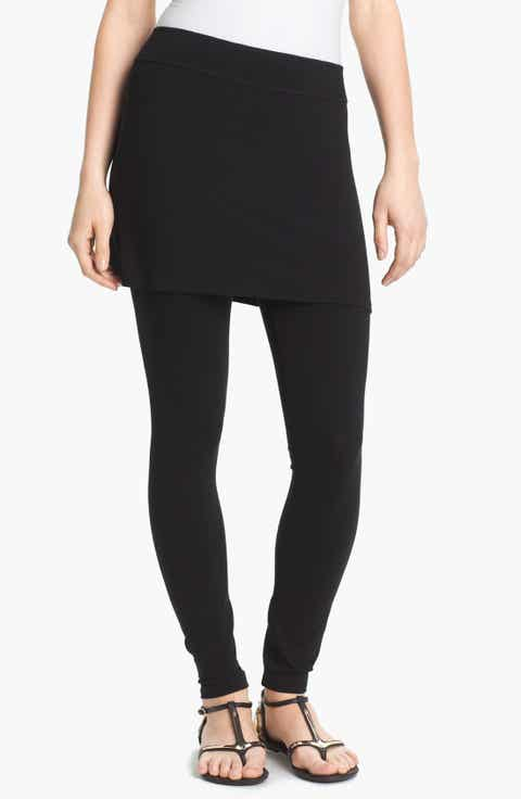 Eileen Fisher Skirted Ankle Leggings (Regular   Petite)