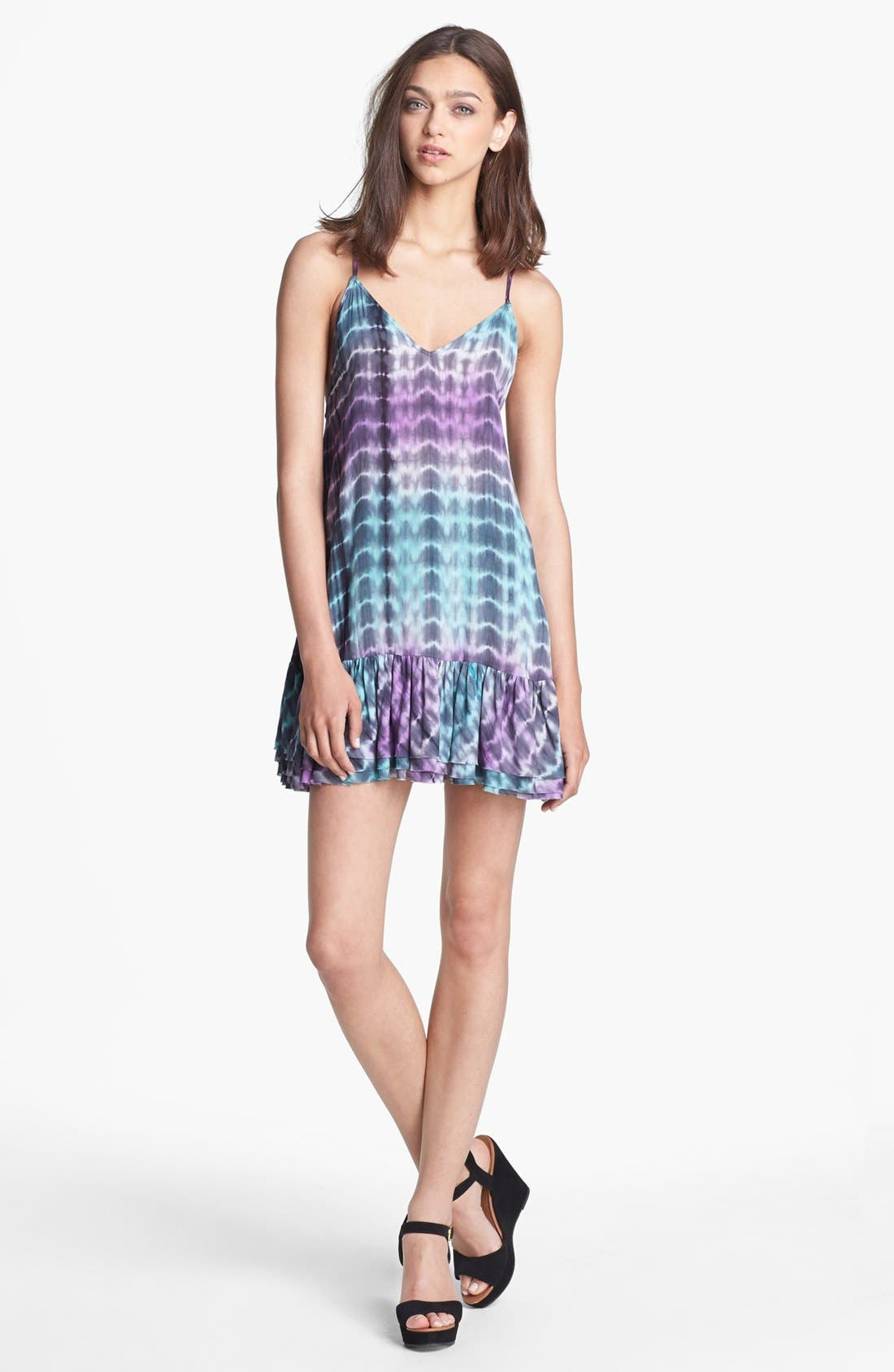 Alternate Image 1 Selected - Lovers + Friends 'Sure Thing' Ruffled Slipdress