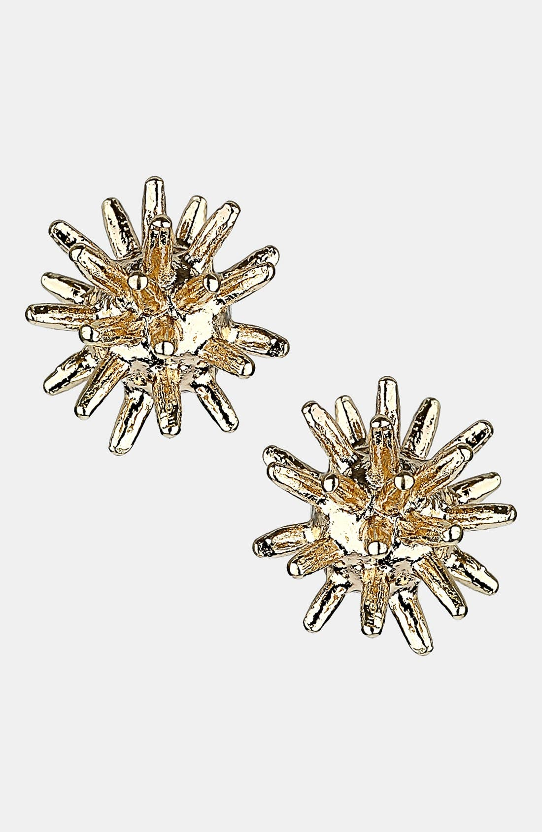 Alternate Image 1 Selected - Topshop Spiked Ball Stud Earrings