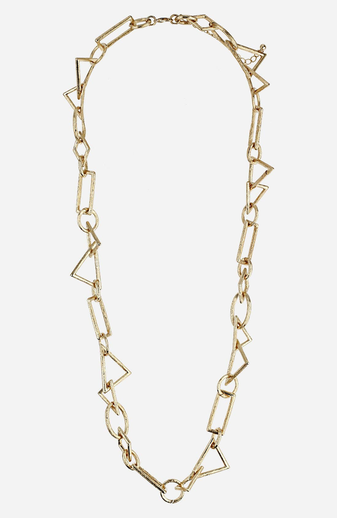 Alternate Image 1 Selected - Topshop Geometric Link Necklace