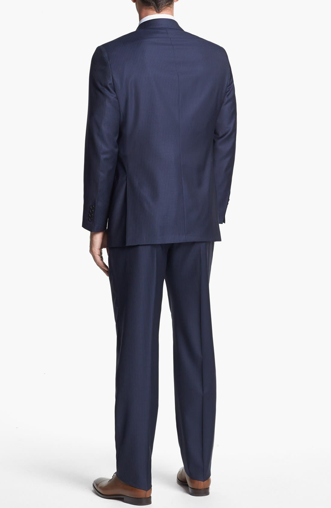Alternate Image 3  - Hickey Freeman 'Beacon' Classic Fit Stripe Suit