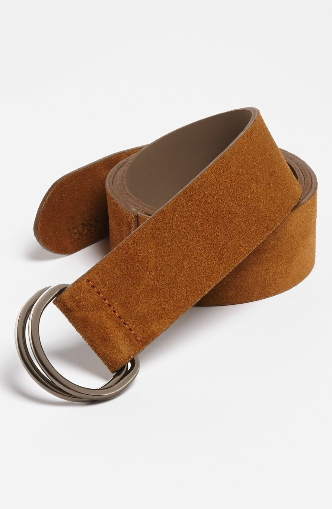 Alternate Image 1 Selected - BOSS HUGO BOSS 'Cennios' Suede Belt