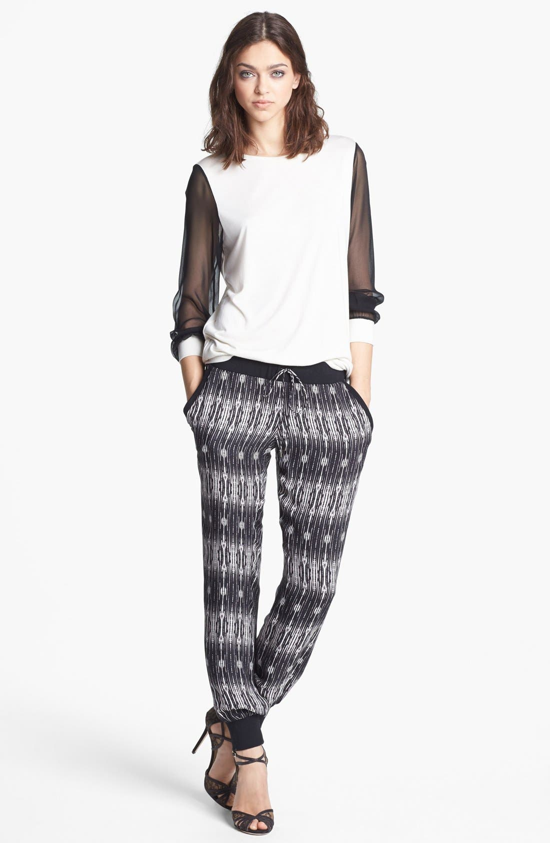 Alternate Image 4  - Haute Hippie Print Silk Sweatpants