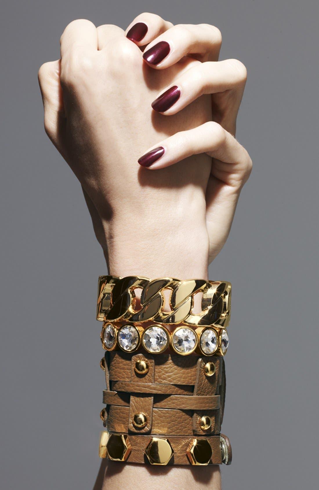 Alternate Image 2  - Cara Wide Woven Leather Bracelet