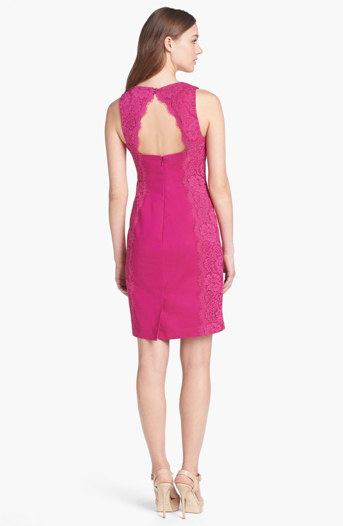 Alternate Image 2  - Aidan Mattox Lace Paneled Sheath Dress
