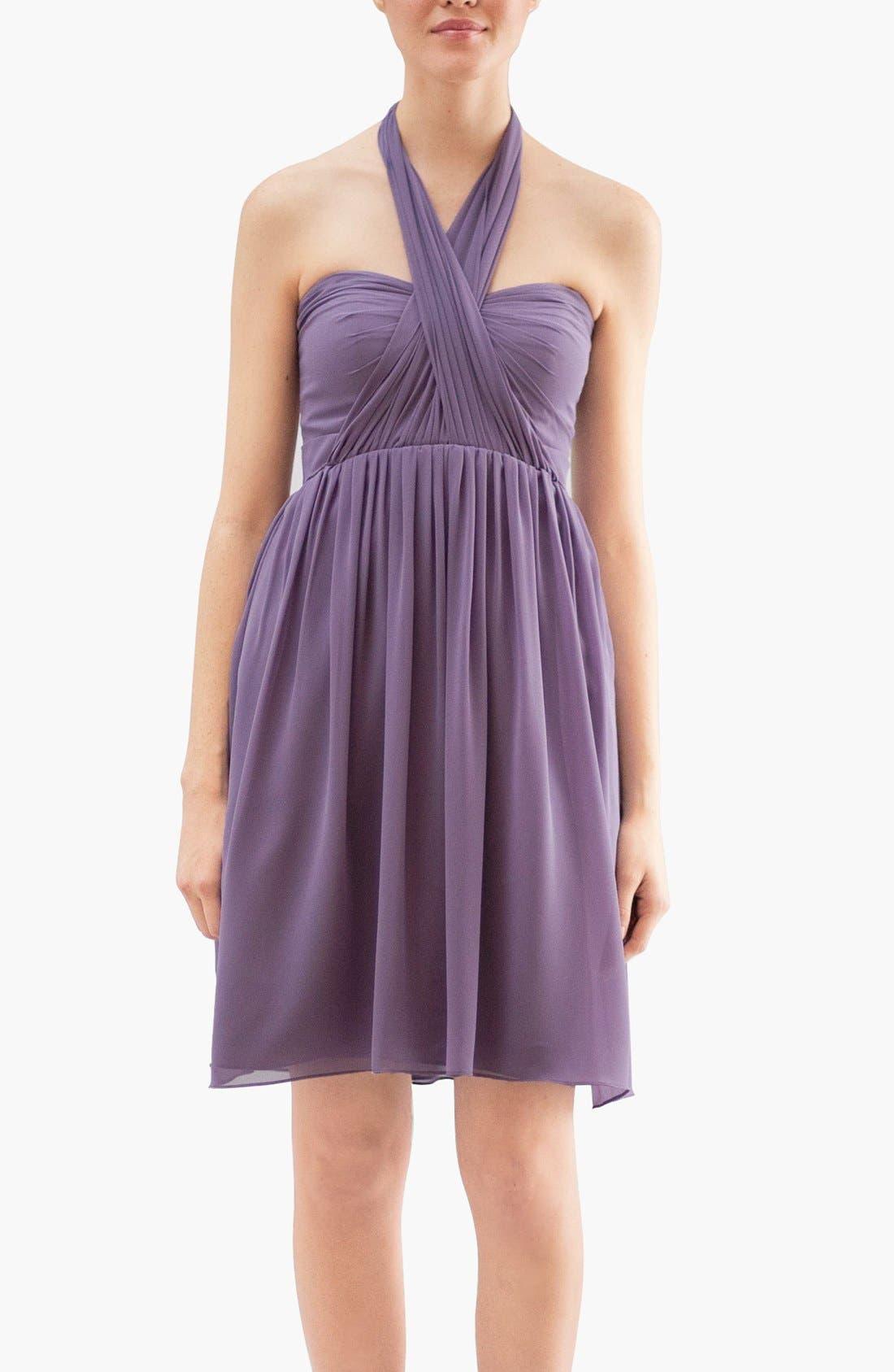 Alternate Image 4  - Jenny Yoo 'Keira' Convertible Dot Chiffon Fit & Flare Dress