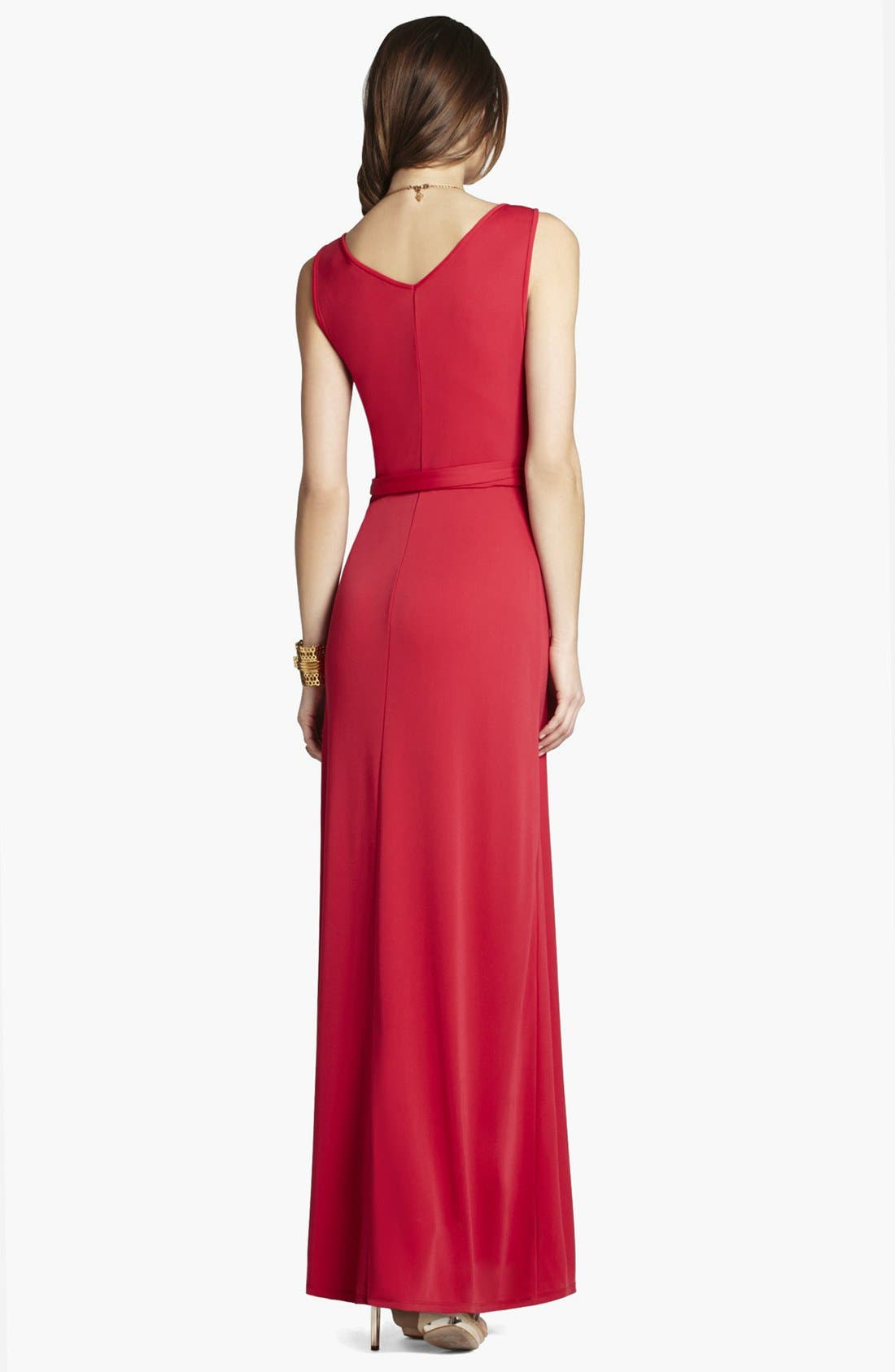 Alternate Image 2  - BCBGMAXAZRIA Jersey Maxi Dress