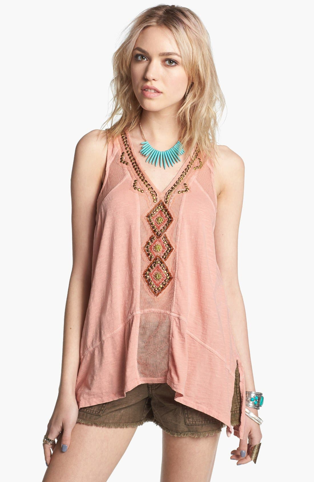 Alternate Image 1 Selected - Free People 'Focus on Center' Embellished Tank