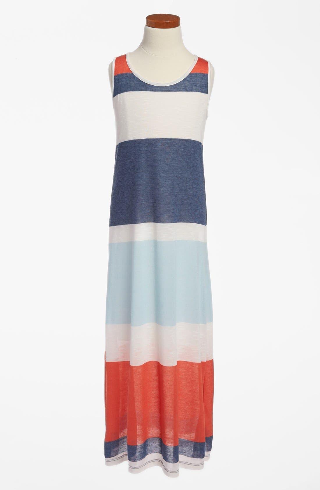 Main Image - Soprano Stripe Maxi Dress (Little Girls & Big Girls)
