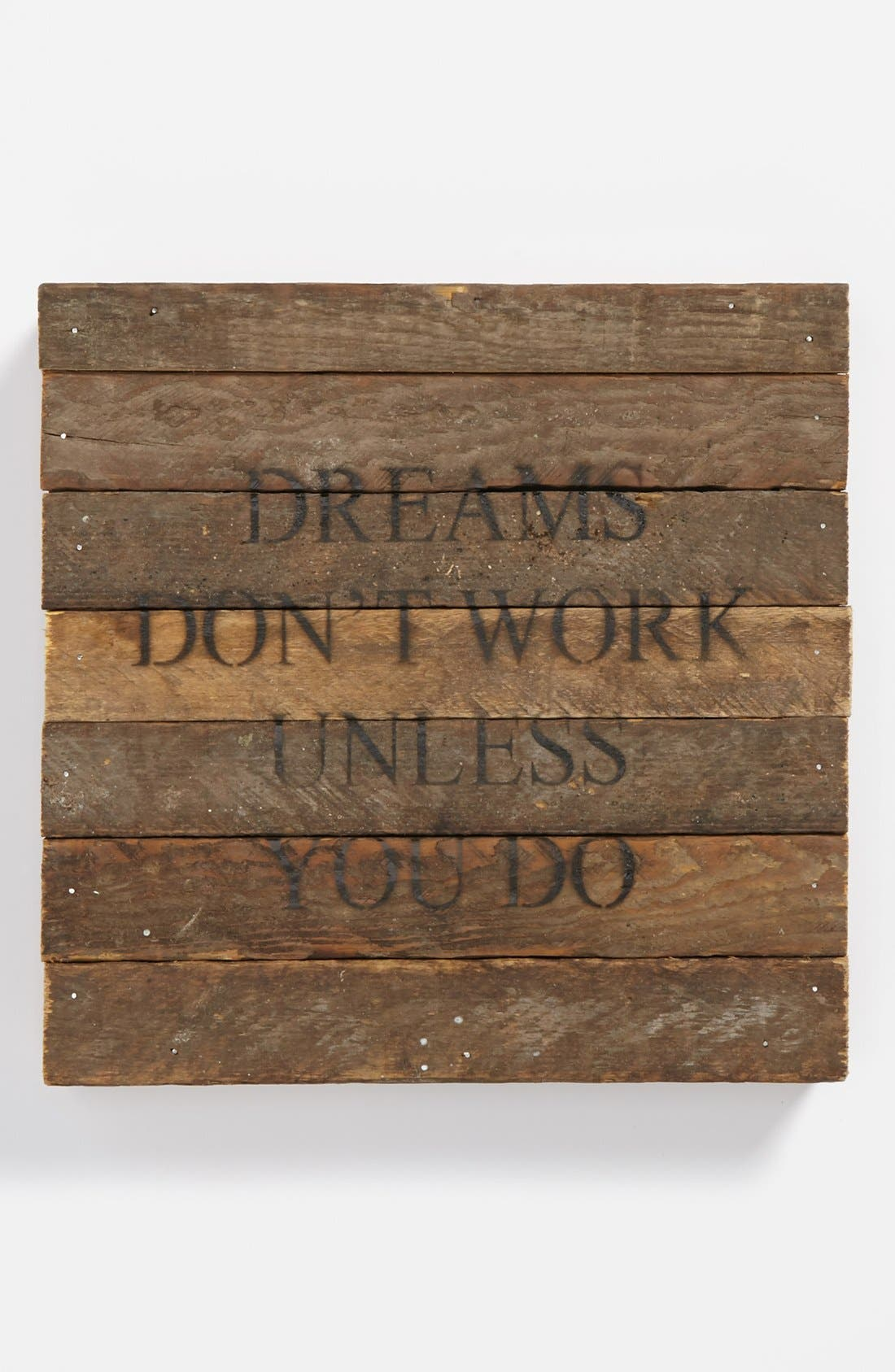 Main Image - Second Nature by Hand 'Dreams Don't Work' Repurposed Wood Wall Art