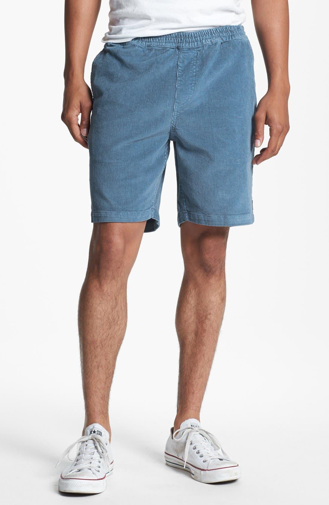 Main Image - Volcom Elastic Waist Corduroy Shorts