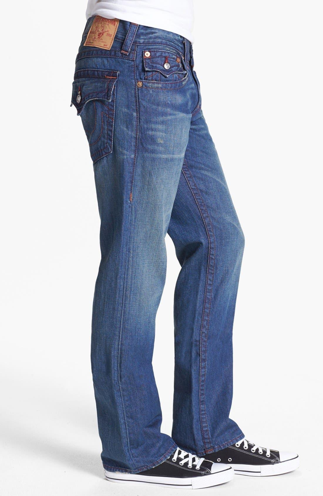 Alternate Image 3  - True Religion Brand Jeans 'Ricky' Straight Leg Jeans (Medium Drifter)