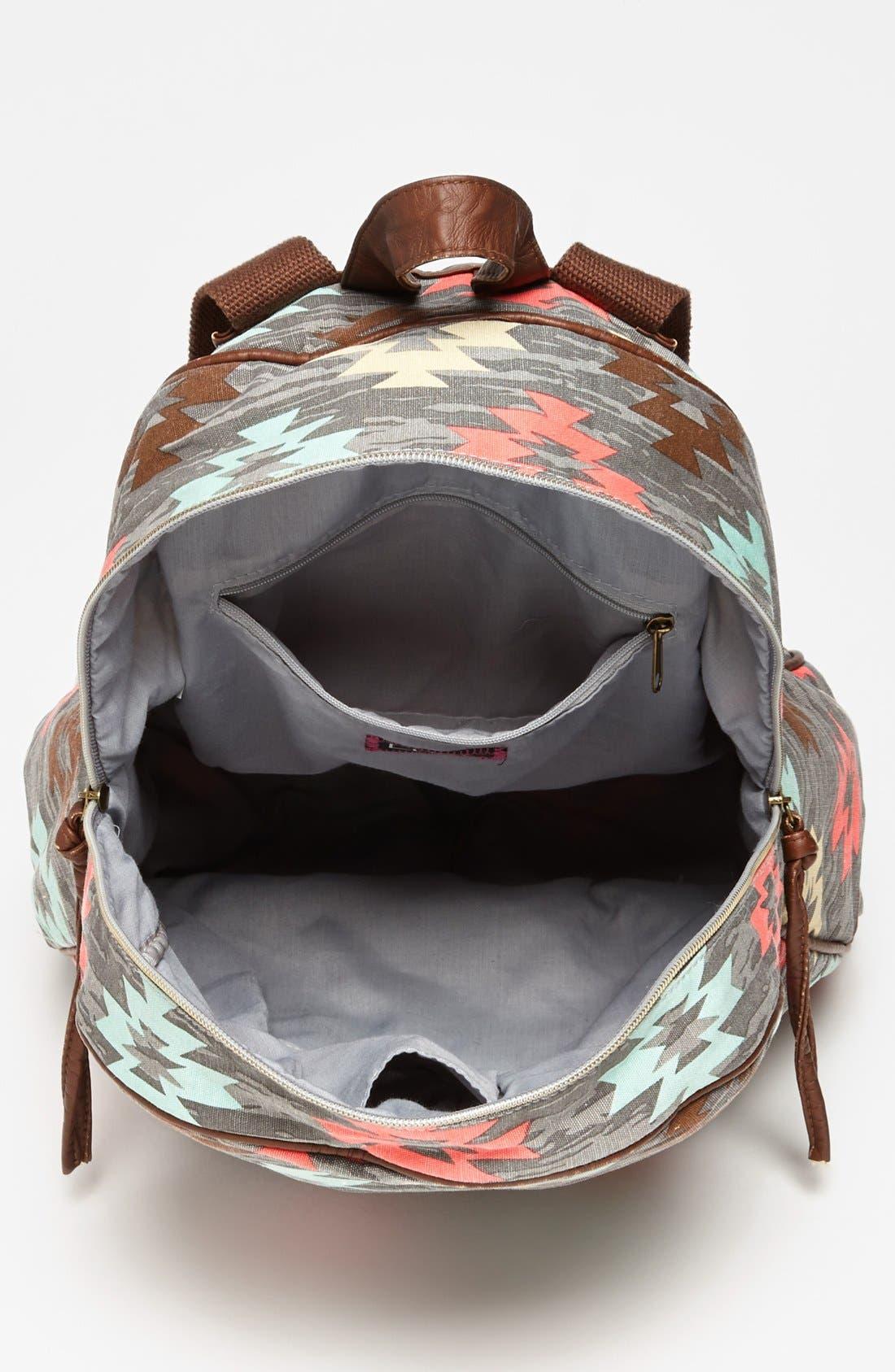 Alternate Image 3  - Lulu Print Canvas Backpack