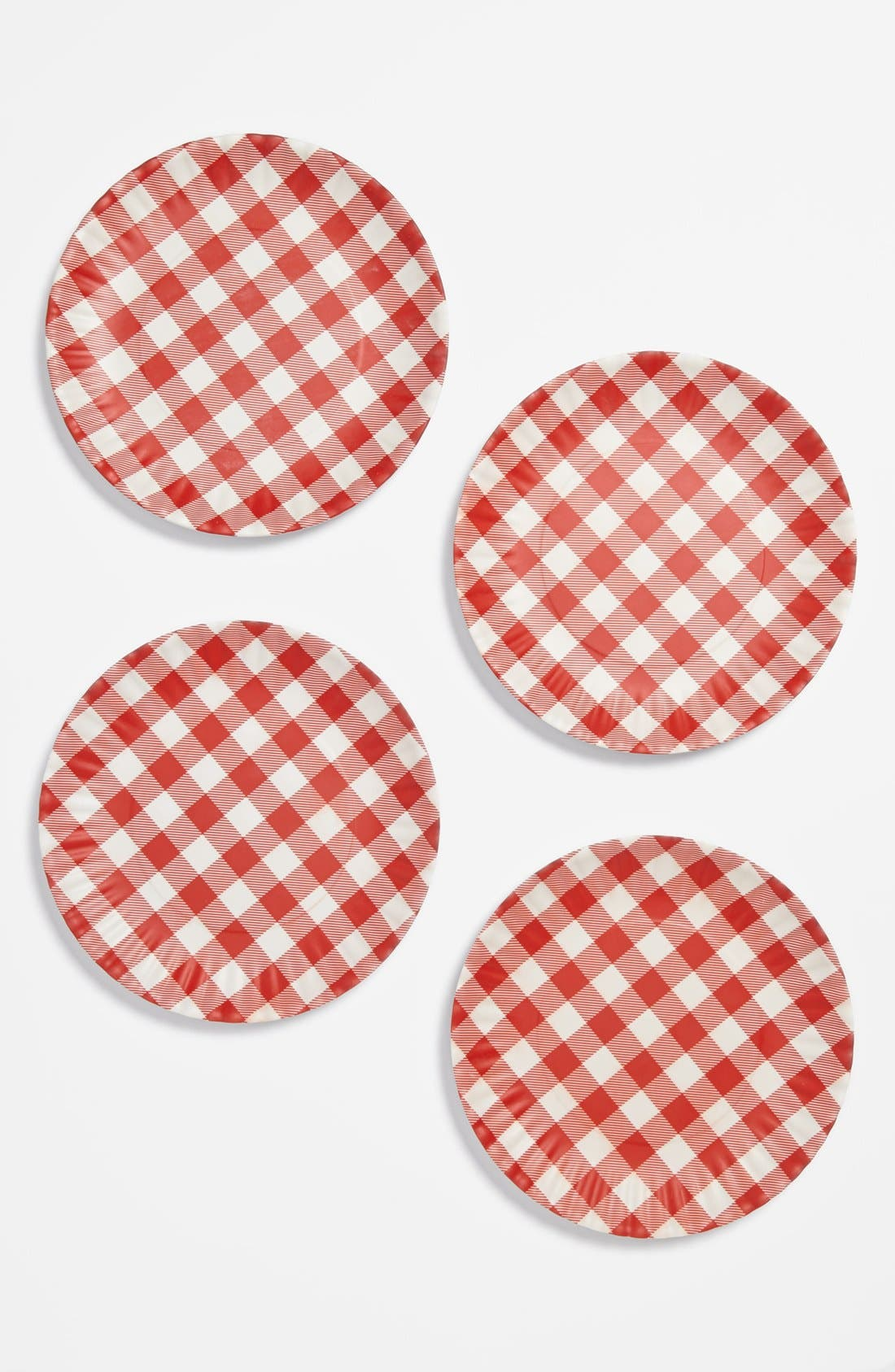 Alternate Image 1 Selected - Gingham Melamine Plates (Set of 4)