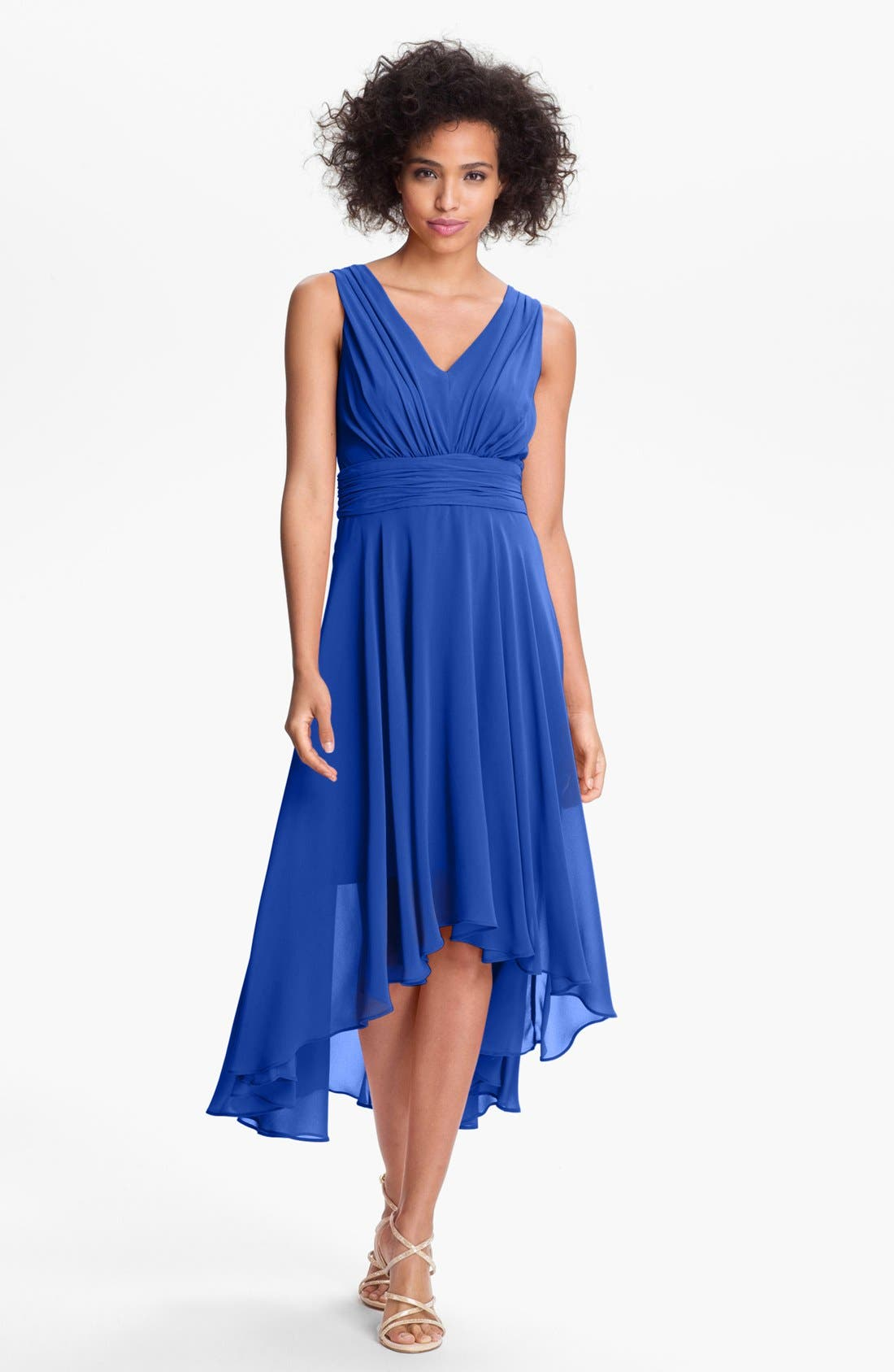 Alternate Image 1 Selected - Ivy & Blu High/Low Chiffon Dress (Regular & Petite)