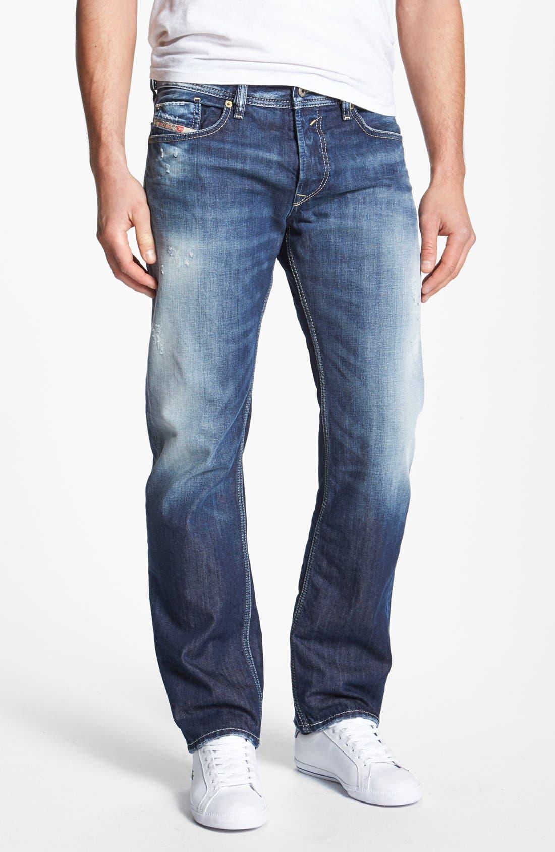 Alternate Image 2  - DIESEL® 'Waykee' Straight Leg Jeans (0810L)