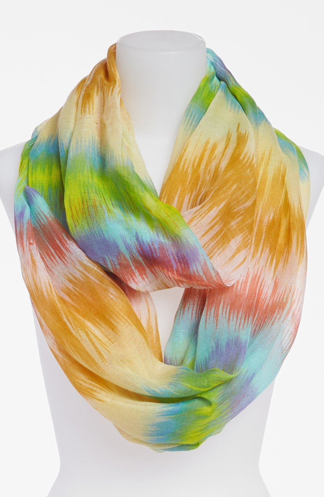 Main Image - David & Young Blurred Ikat Infinity Scarf
