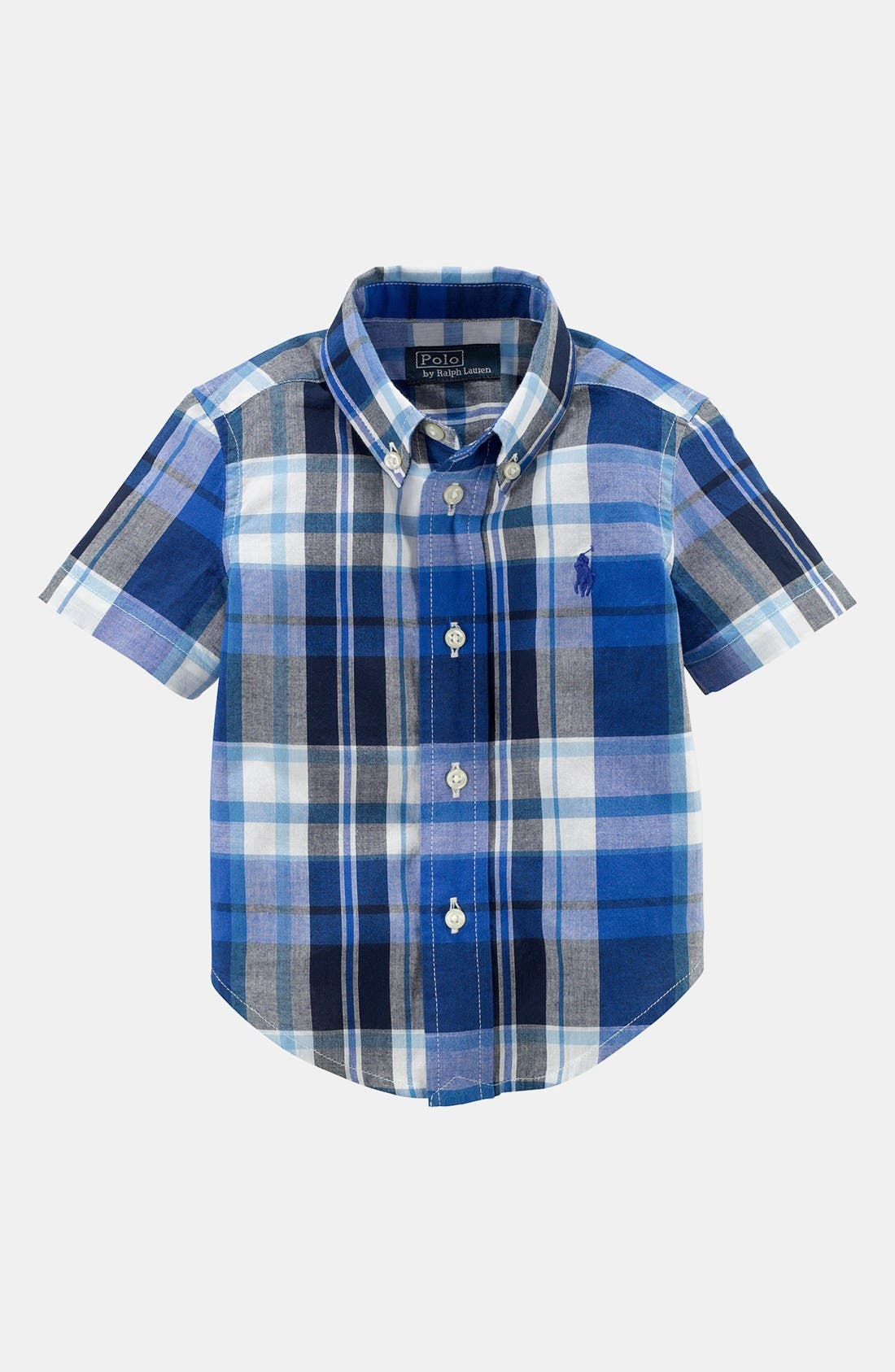 Main Image - Ralph Lauren Madras Shirt (Baby Boys)