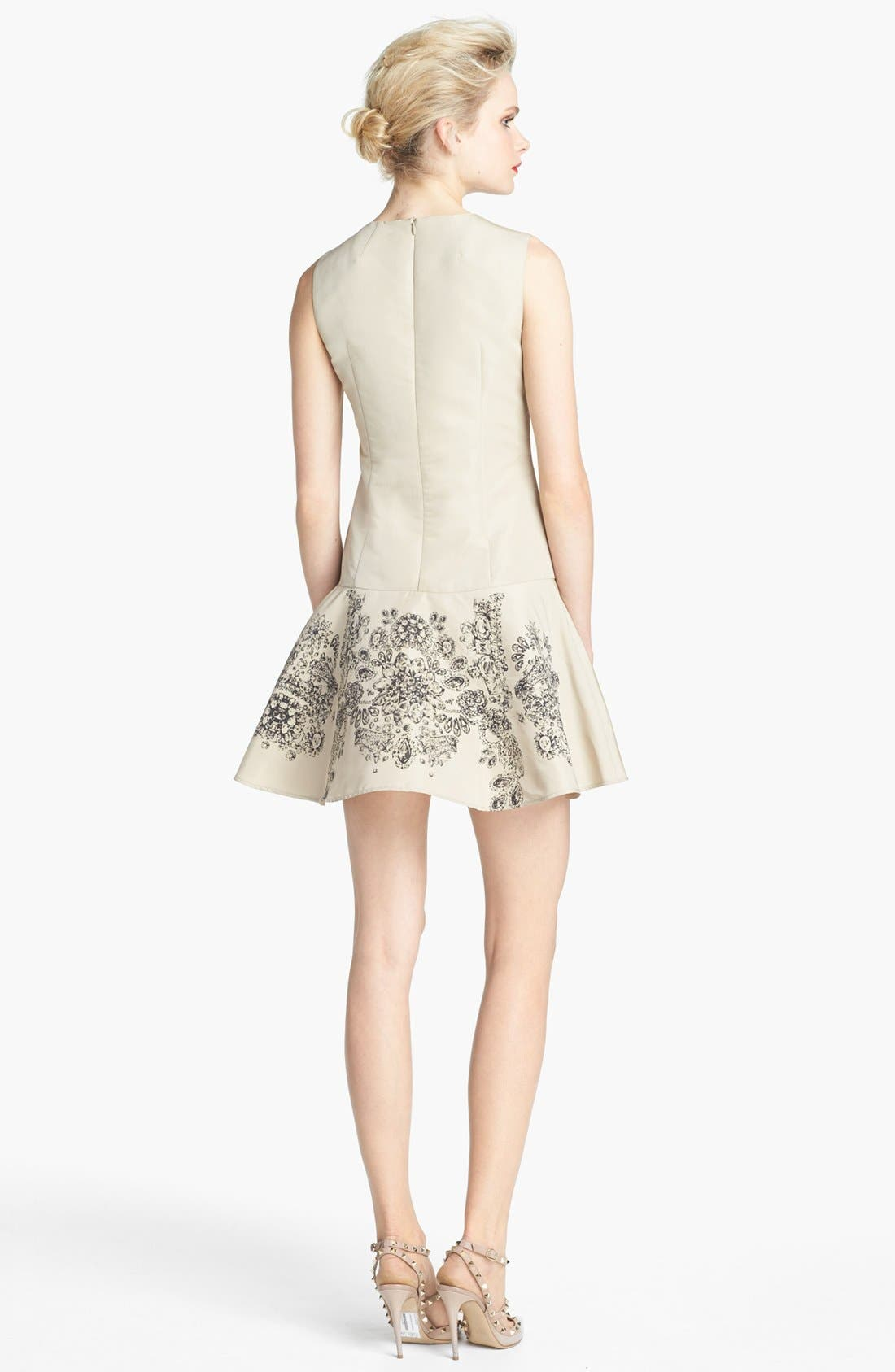 Alternate Image 2  - RED Valentino Floral Print Drop Waist Dress