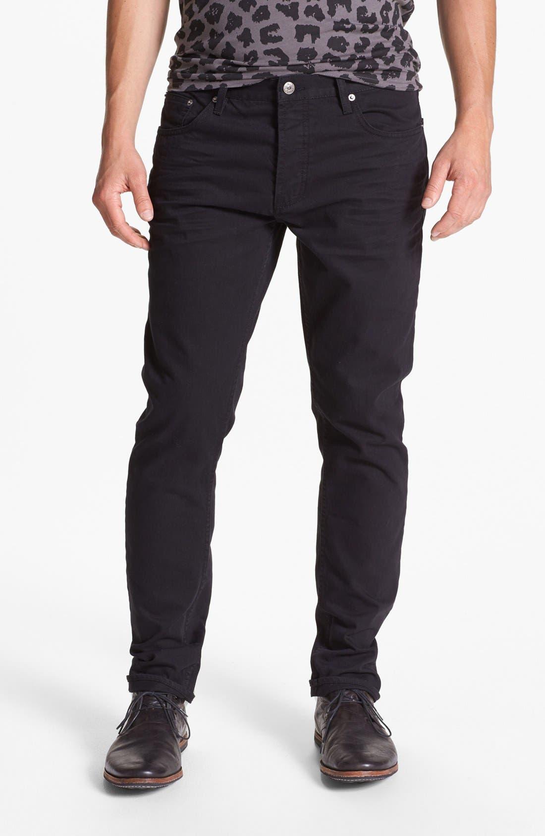 Alternate Image 2  - Topman Slim Fit Jeans (Black)