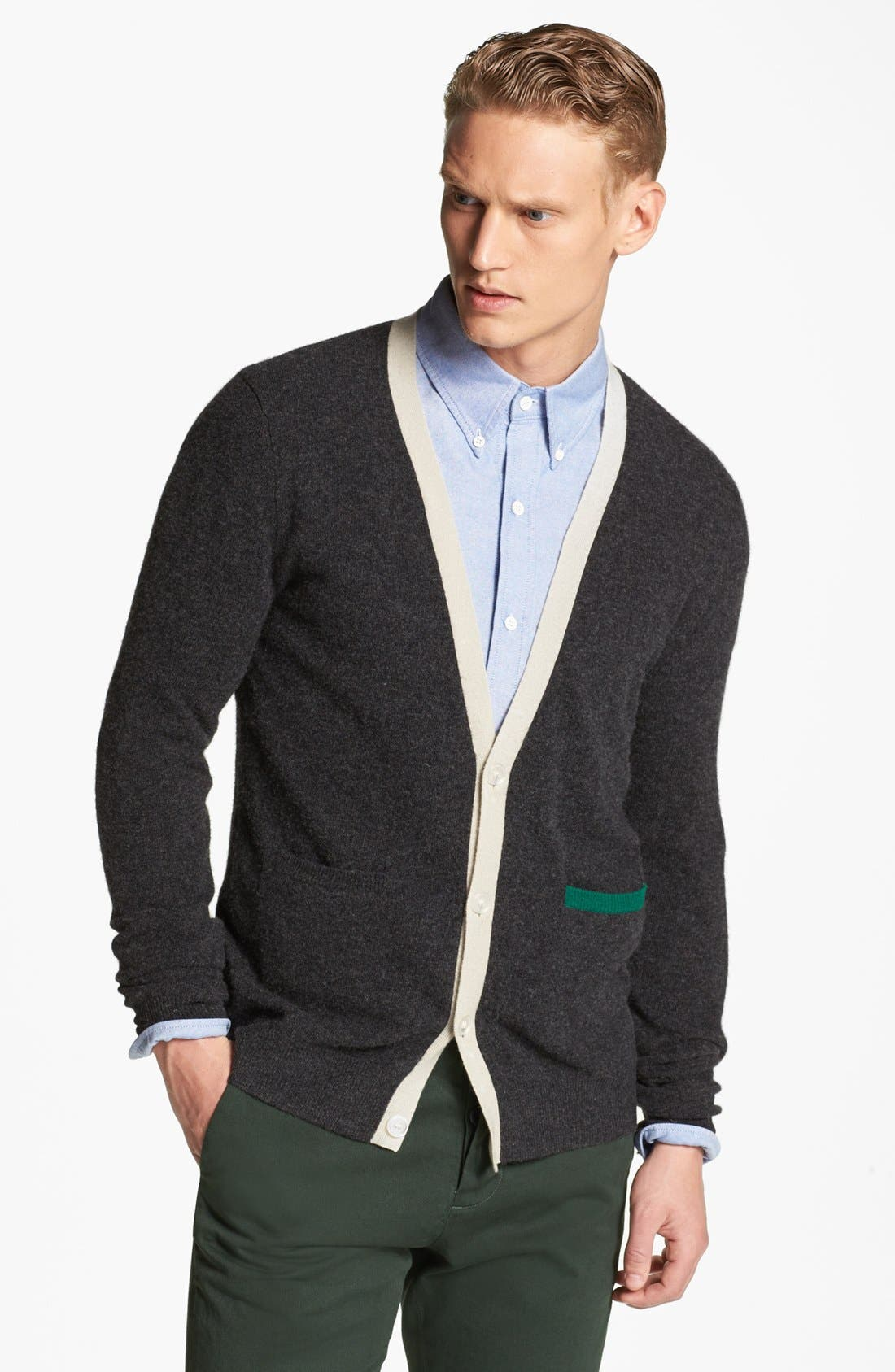 Main Image - Band of Outsiders Wool Cardigan