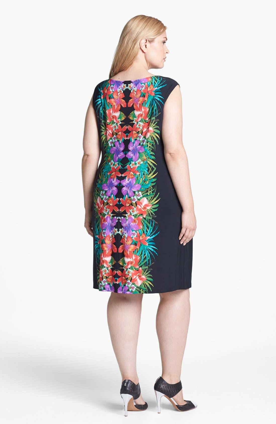 Alternate Image 2  - London Times Print Shift Dress (Plus Size)