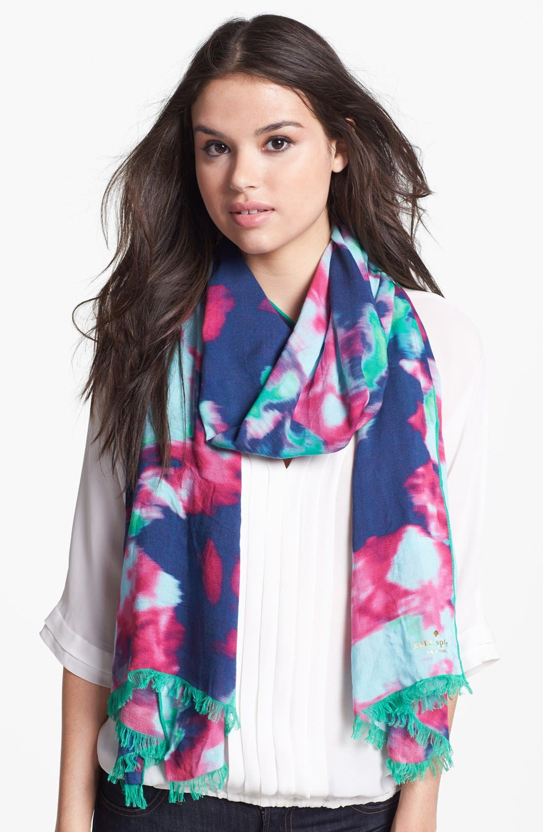 Main Image - kate spade new york 'jumbo floral' scarf
