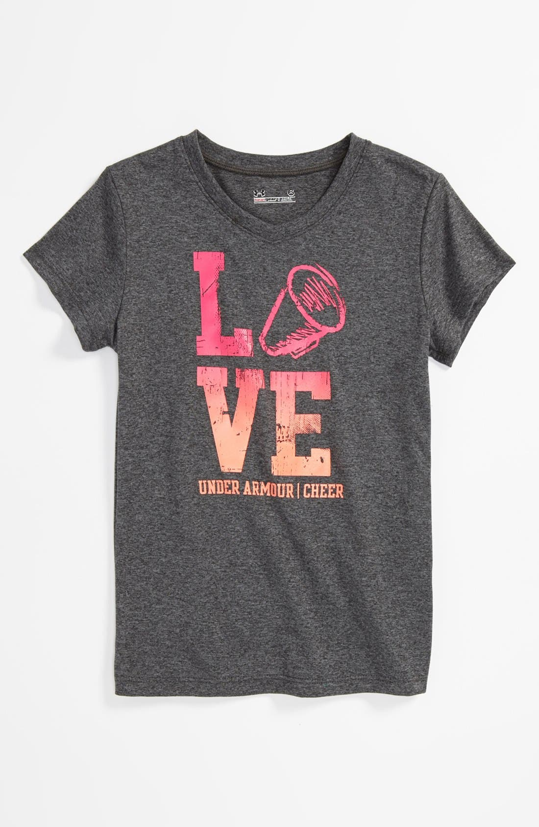 Alternate Image 1 Selected - Under Armour 'Cheer' Tee (Toddler Girls)