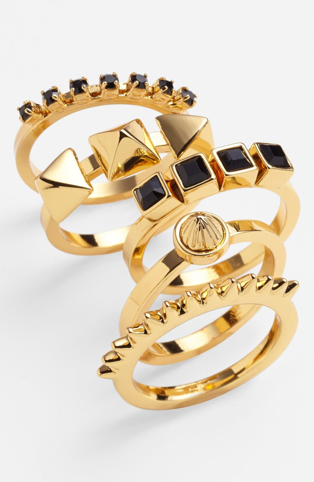 Alternate Image 1 Selected - Vince Camuto Stackable Rings (Set of 5)