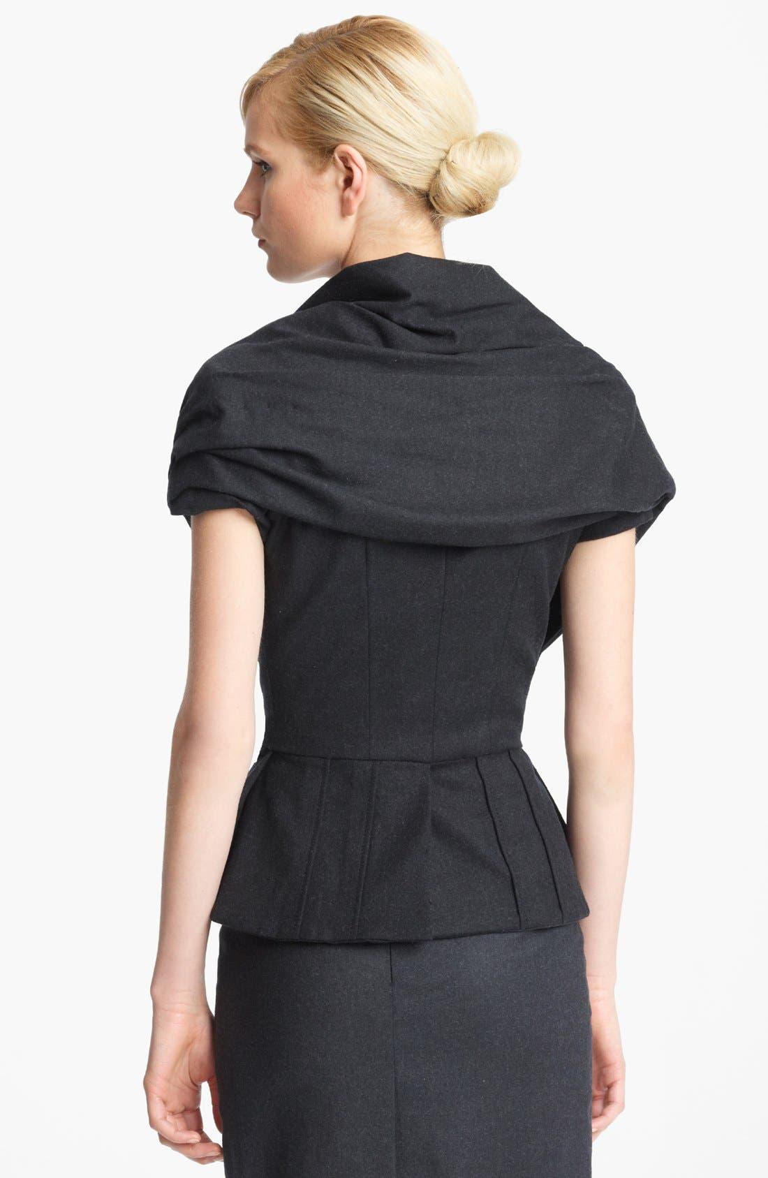 Alternate Image 3  - Oscar de la Renta 'Skyline' Short Sleeve Flannel Jacket