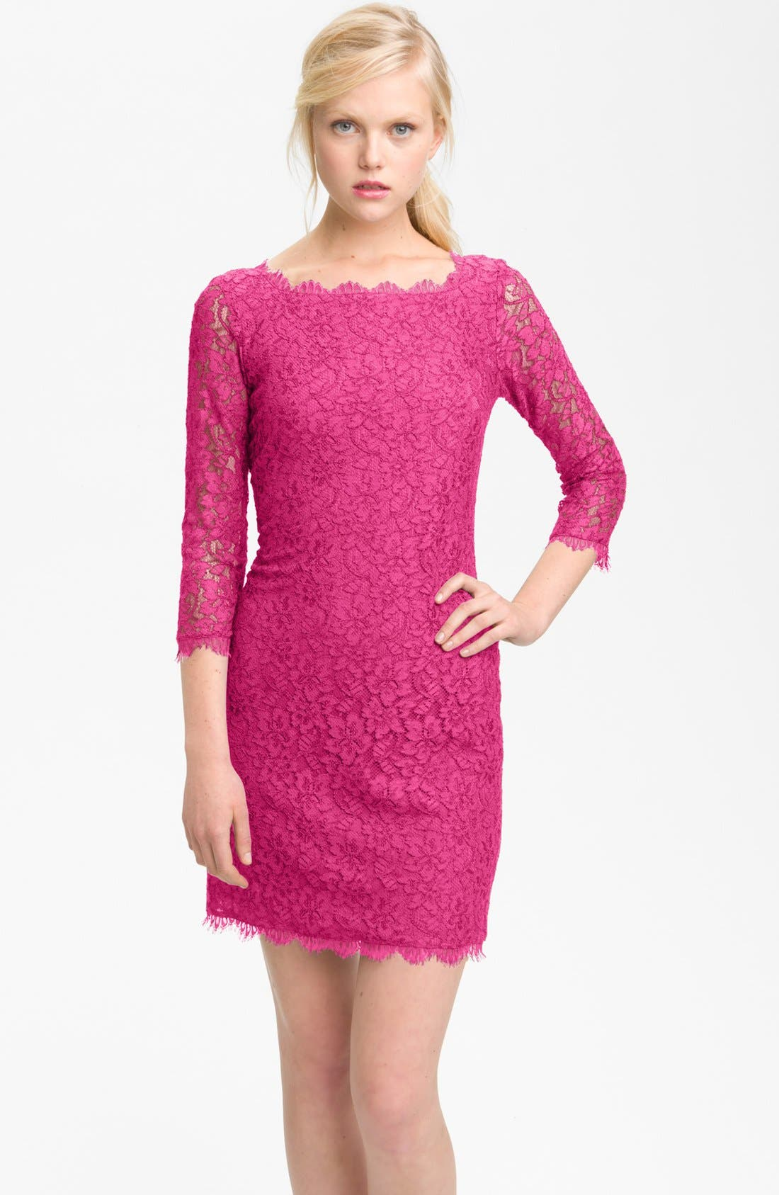 Main Image - Diane von Furstenberg 'Zarita' Lace Sheath Dress