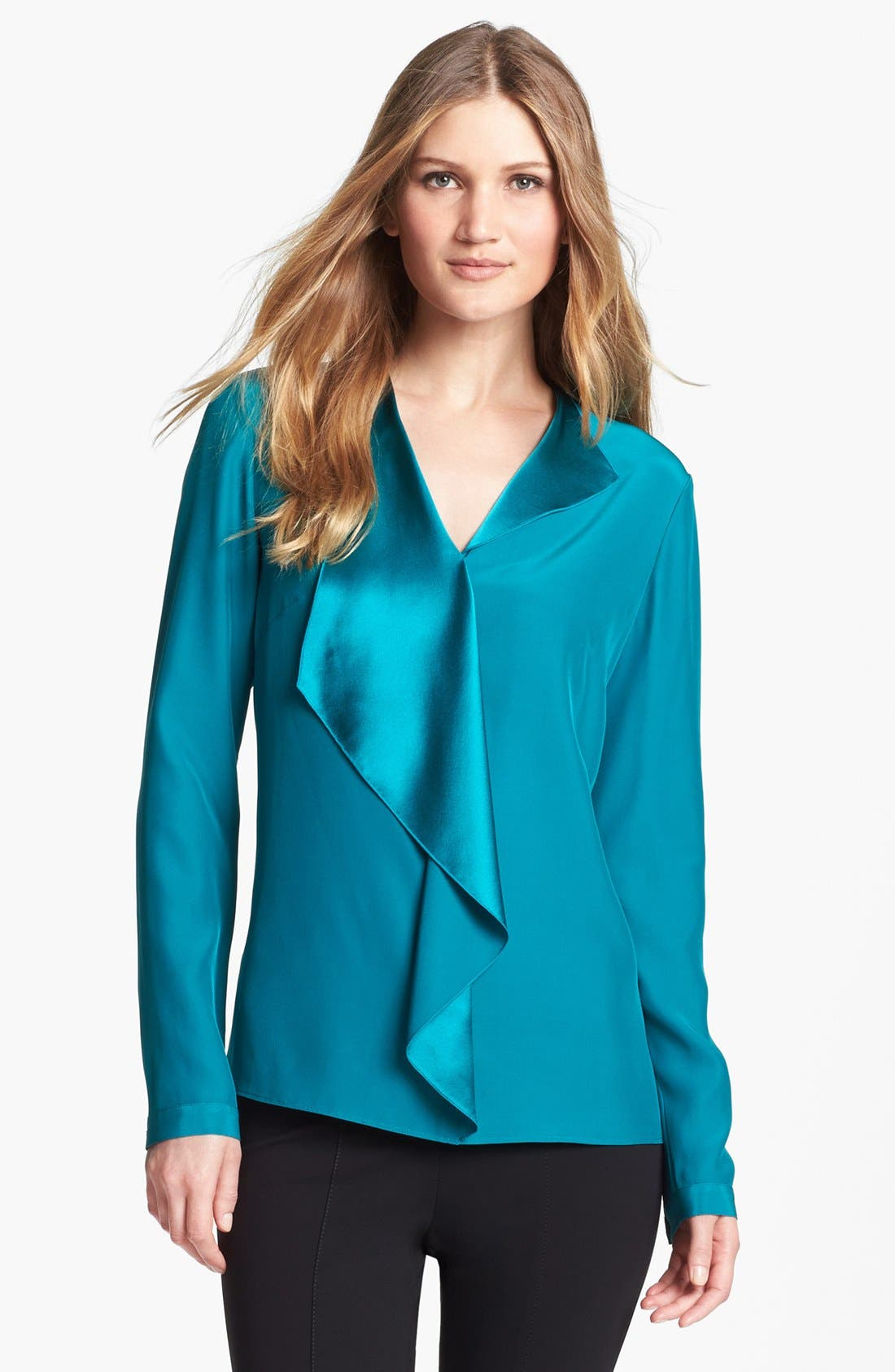 Alternate Image 1 Selected - Lafayette 148 New York 'Ainslee' Silk Blouse