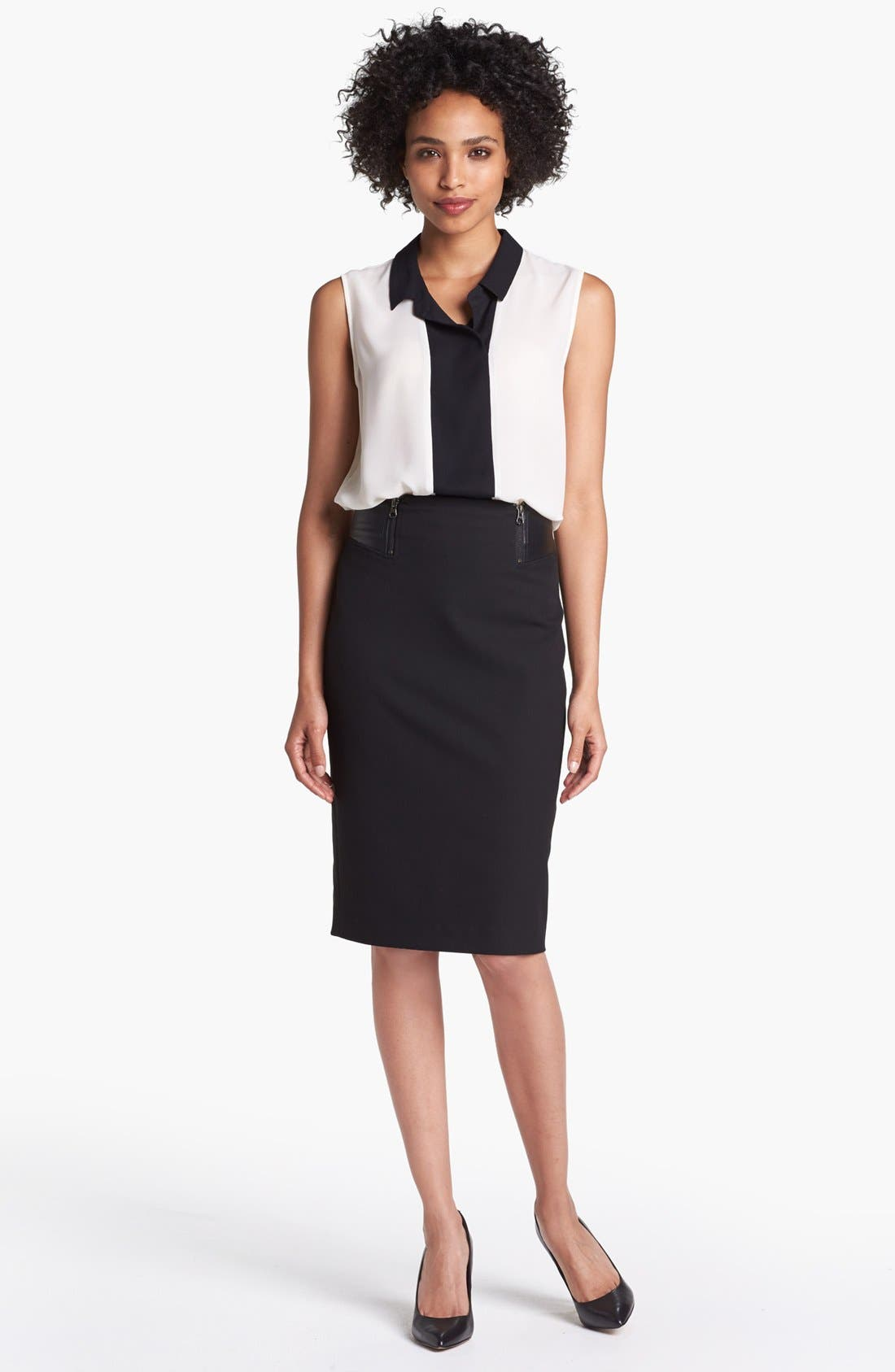 Alternate Image 5  - Halogen® Faux Leather Waist Pencil Skirt