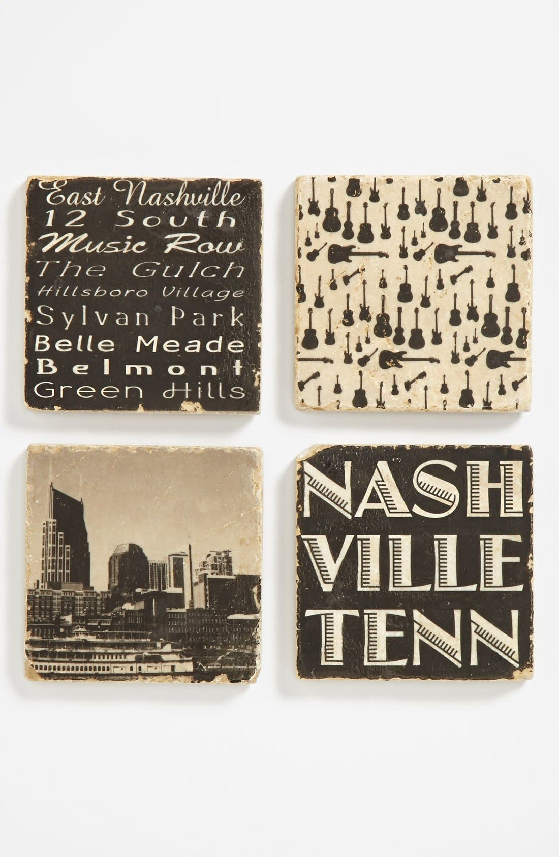 Alternate Image 1 Selected - 'Nashville' Marble Coasters (Set of 4)